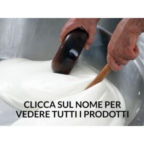 Mélange produit laitier (mozzarella, burrata, mini bouchlées de fromage mozzarella)