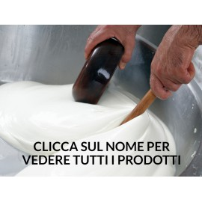 Mélange produit laitier (burrata, primo sale, yogurt, stracciatella, treccione, mozzarella bomba, mini bouchlées de fromage)