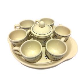 Set completo tazzine di caffé in terracotta