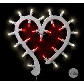 Herzförmige Lichtern