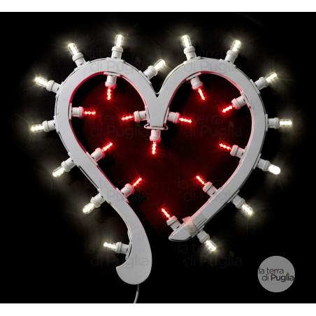 Luminaria a forma di cuore