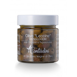 """Seasoned and pitted """"Leccine"""" red olives"""