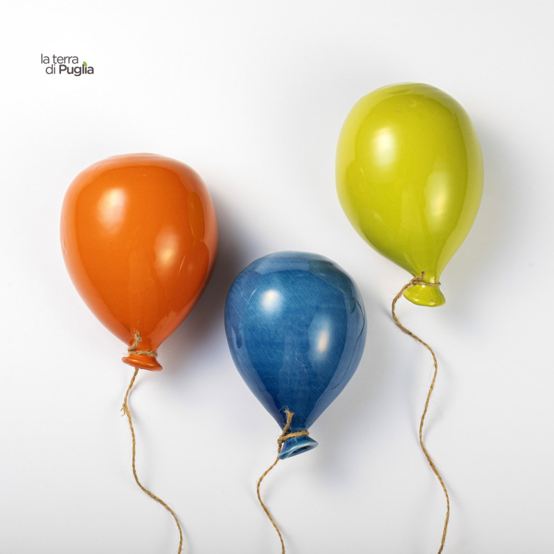 Colored ceramic balloons