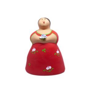 Keramische Hausfrau von Salento
