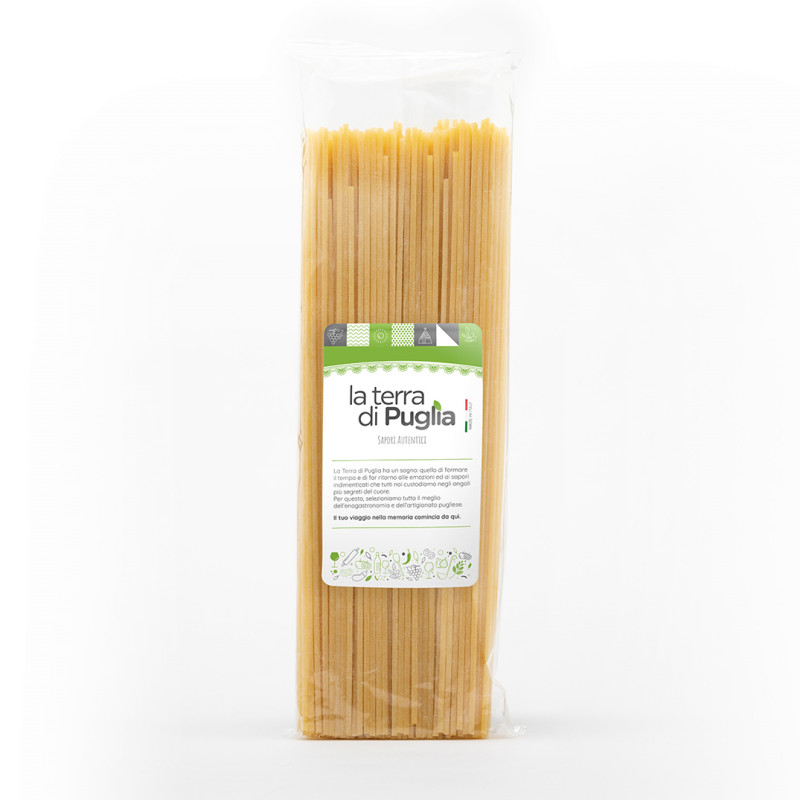 Bronze-drawn semolina spaghetti