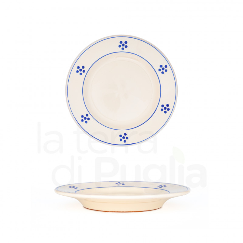 Pottery dinner plate 19 cm
