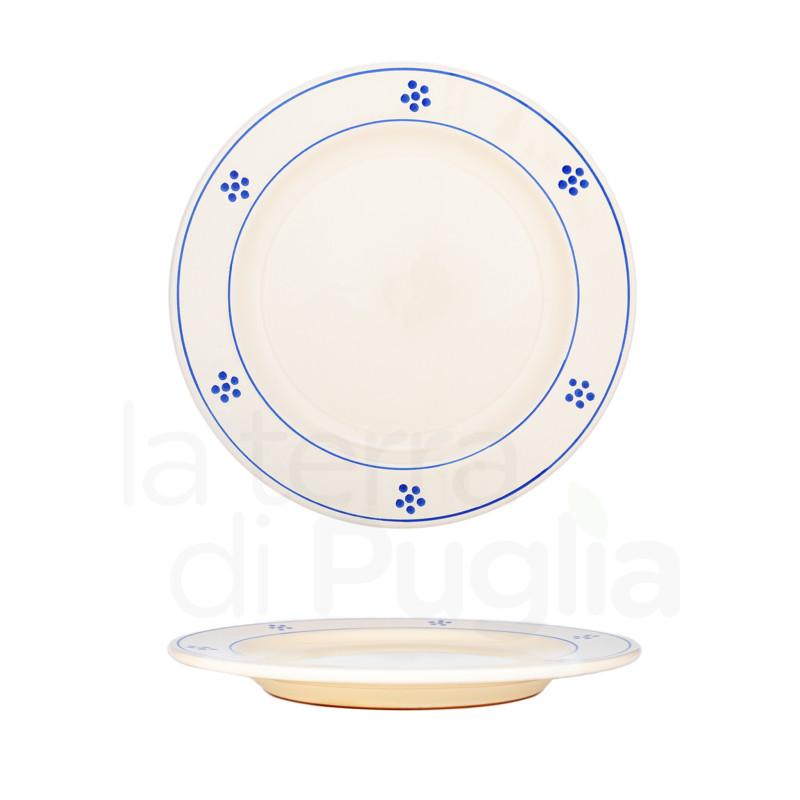 24 cm pottery dinner plate