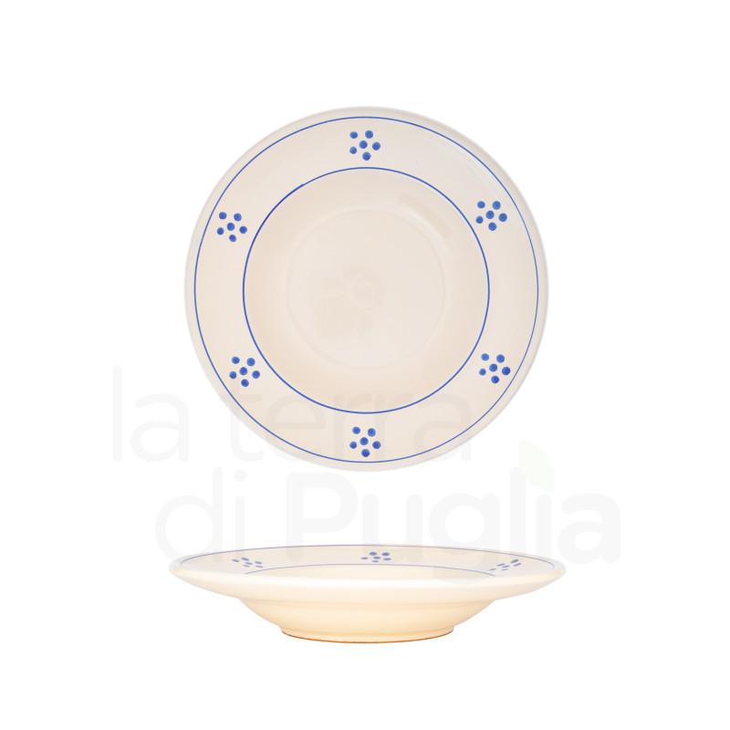 Pottery soup plate 18 cm