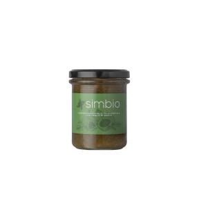 Marmelade mit Feigen und Minzblättern