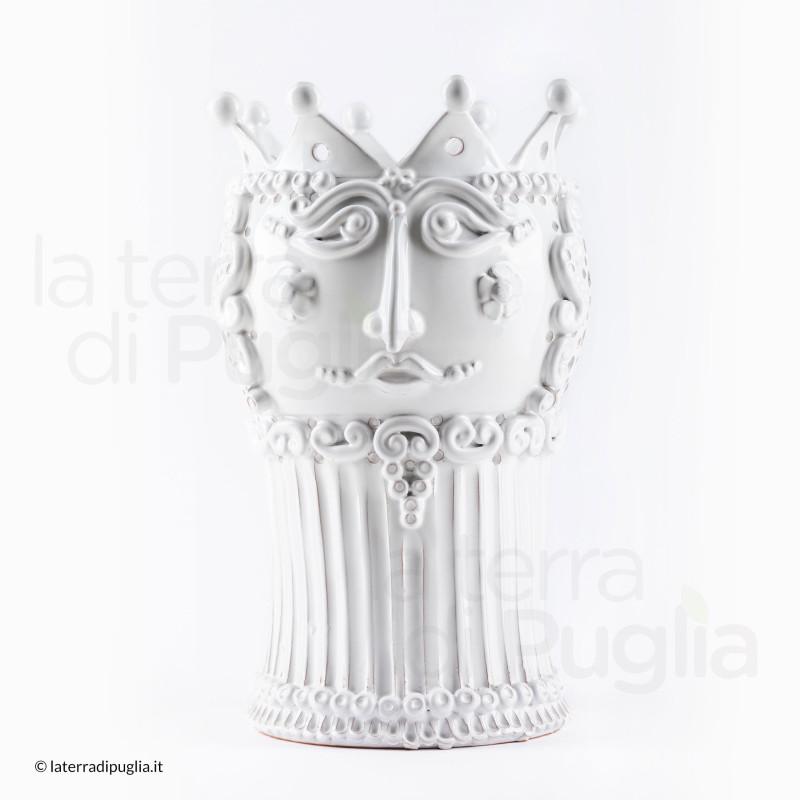 Tête de roi en céramique