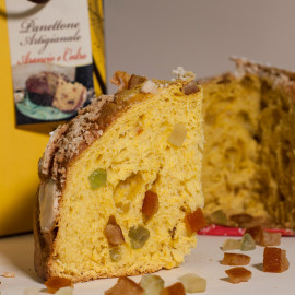 Artisan Easter cake orange and cedar panettone
