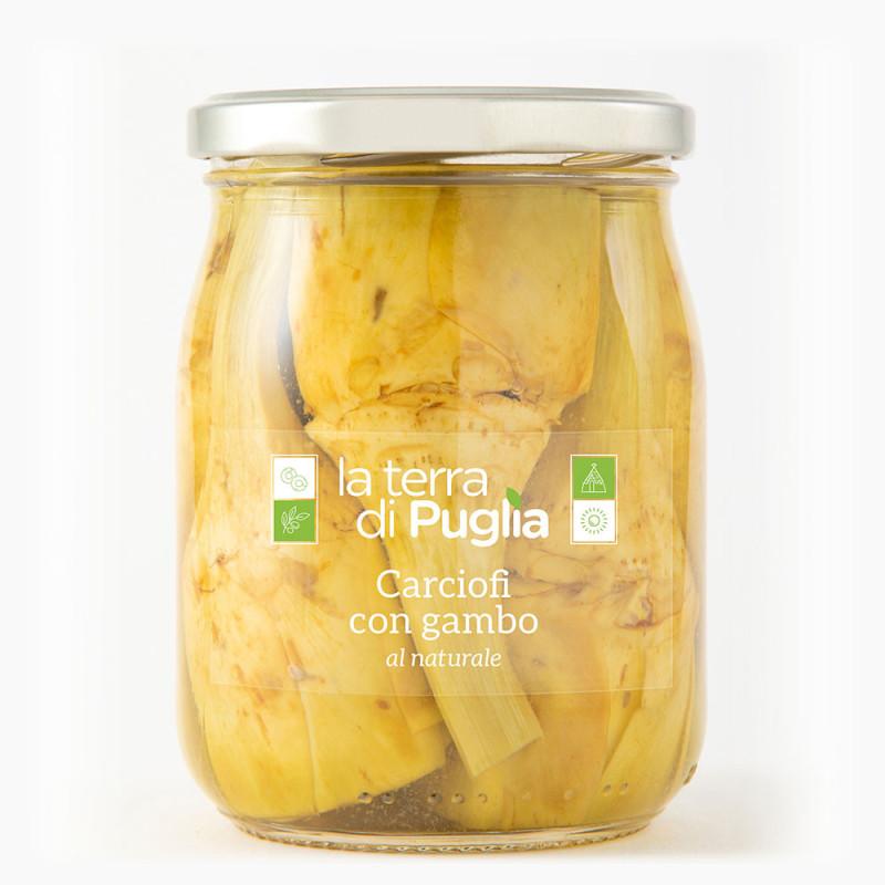"""Crudaiola"" artichokes with stem"