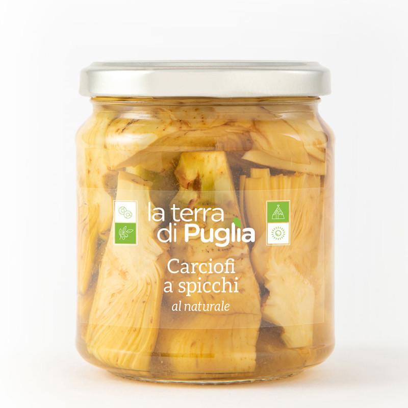 Natural sliced artichokes
