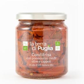 Condifrisa con pomodorini semisecchi in EVO