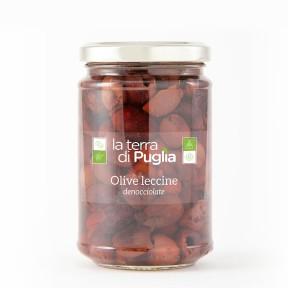 Entkernte Leccine-Oliven
