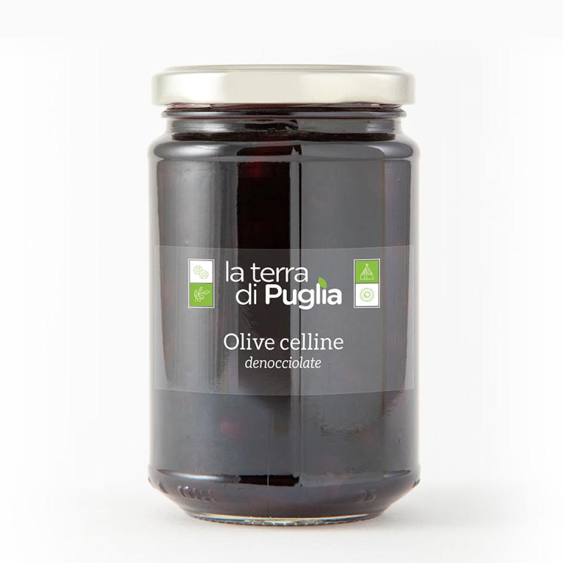 Entkernte celline-Oliven