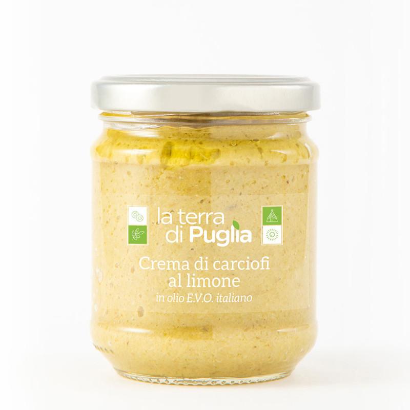 Crema di carciofi al limone in EVO