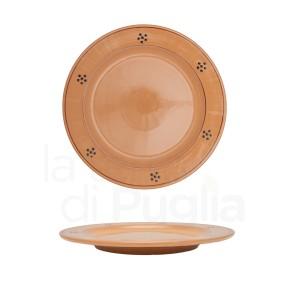 Assiette plate 24 cm en terre cuite marron