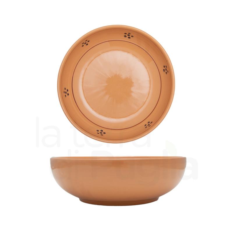 Pottery Soup Bowl Brown