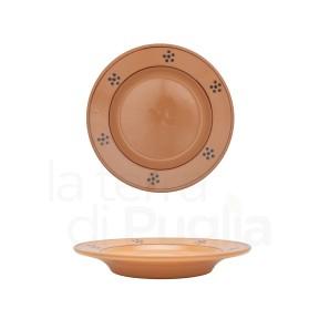 Pottery dinner plate 19 cm Brown