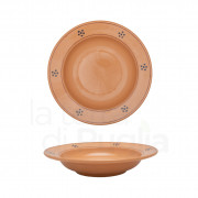 Pottery Soup Plate 23 cm Brown