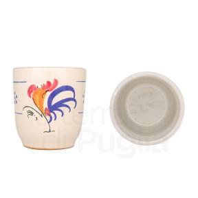 Bicchiere in Terracotta con Gallo
