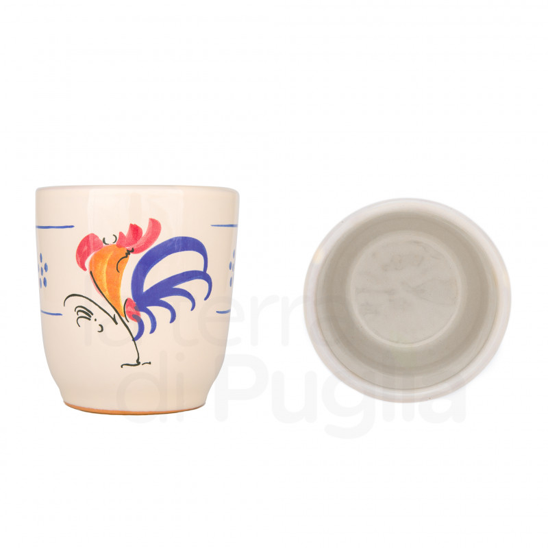 Terracotta Glass with Rooster