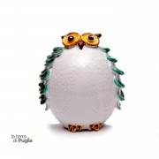Handpainted Glazed Ceramic OWL