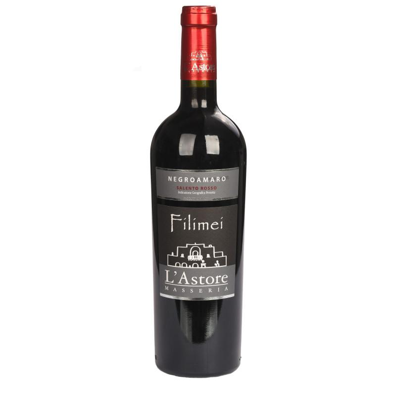 Filimei, vino rosso Negramaro da uve biologiche