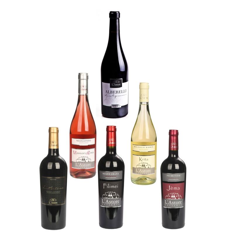 Coffret avec une sélection de vins bio du Salento