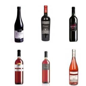 Auswahl an Negroamaro-Weinen