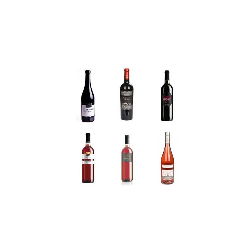 Coffret avec une sélection de vins Negroamaro