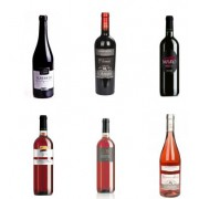 Selection of Negroamaro wines